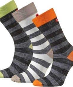 Randiga strumpor i merinoull Merino Liner Striped