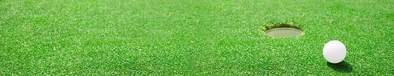 Green golfboll hål